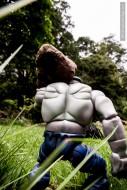 hulk carrying a stone