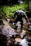 hulk walking in river