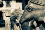 elephant stone statue