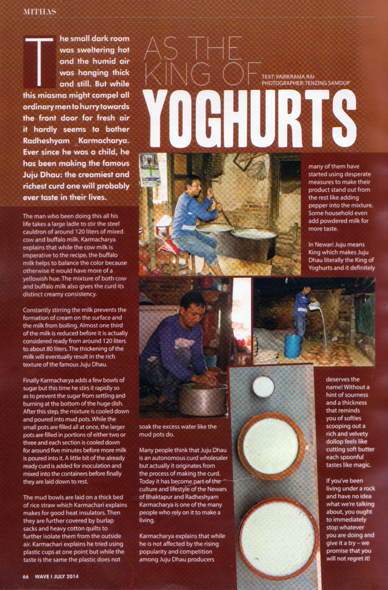 juju dhau king of curds wave article scan