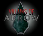 villains of arrow font logo