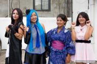 cosplay girls posing